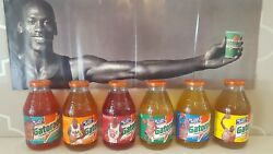 RARE Micheal JordanNike sneakers vintage Gatorade Glass Bottles un-opened set