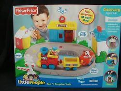 Fisher Price Little People Pop N Surprise Train Discovery New Sealed 2008