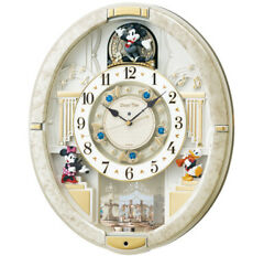 Seiko Wall Clocks Trick 12 Songs Melody Mickey And Friends Disney Time Fw580w