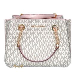 MICHAEL KORS TEAGEN MESSENGER SMALL CROSSBODY BAG VANILLA PINK POWDER BLUSH $114.88