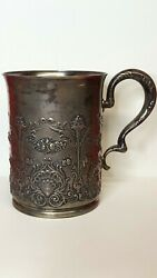 Antique 1888 Whiting Manufacturing Co Sterling Silver 2852 1/2 Pint Cup/mug