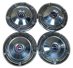 Oem 1968 Chevrolet Chevelle Malibu 14 Wheel Center Hub Caps 14 In Cap Set Of 4