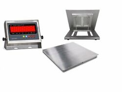 Stainless 5and039x5and039 60x60 Steel Floor Scale And Indicator   Wash Down 5000 X 1lb