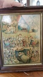 1881 True And Co. Vintage Collectible Victorian Chromo Picture Very Rare