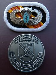 5th Special Forces Airborne Jump Wing Badge Oval Patch Pin Us Army Sog Military