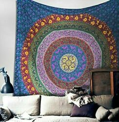 Large Indian Mandala Tapestry Hippie Throw Bohemian Multi Color Wall Hanging