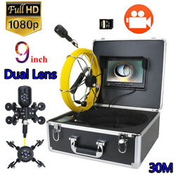 9and039and039 Dvr 30m 1080p Dual Camera Lens Ip68 Waterproof Pipe Inspection Video Camera