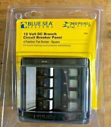 Blue Sea Systems - 1216 - 4-position 12v Dc Panel 4/15a Circuits