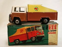 Mf 961 Light Truck Friction Car China Tin Toy Blechspielzeug Boxed Rare