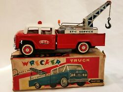 Mf 715 Wrecker Truck Friction Car China Tin Toy Blechspielzeug Boxed