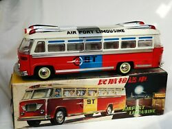 Mf 910 Airport Limousine Bus Friction Car China Tin Toy Blechspielzeug Boxed