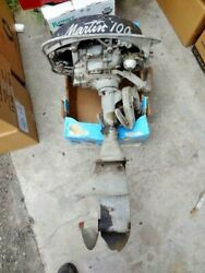 1950and039s Vintage Martin 100 Outboard Boat Motor Parts Only Local Pickup No Returns