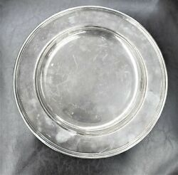 Vintage And Co Makers .925 Sterling Silver Plate Serving Tray 10 1/4