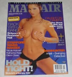 Angel Dark Rare Mayfair Magazine Vol. 39 10 Uk Vtg Roxanne Hall Teagan Presley