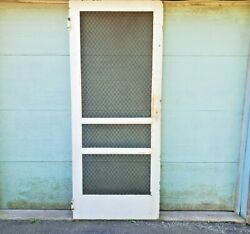 Screen Door 89 X 36 Security Antique Salvage Country Store Delivery Available