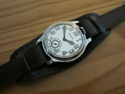 Collectible Rare Swiss Antique Zenith 12h Position Winding Wrist Watch - Working