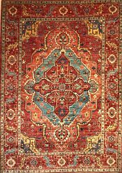 Hand-knotted Rug Carpet X8and0399rug Serapi Mint Condition