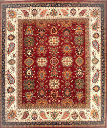 Hand-knotted Rug Carpet 8x9'5, Souzani Mint Condition