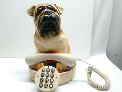 ADORABLE Vintage BULL DOG CHARACTER TELEPHONE