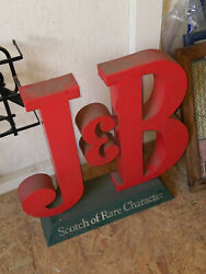 J&B DISPLAY SIGN FOR BAR OR LIQUOR STORE GREAT CONDITION (RARE) MAN CAVE LIQUOR