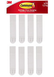 3M Command Picture Hanging Strips Large 4 Pairs 8 Strips Hold 16 lbs