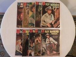 """10 Vintage """"roy Rogers And Trigger"""" Comic Books"""
