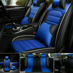 Us Pu Leather Car Seat Covers Protector Frontandrear Interior Cushions 5-seats Set