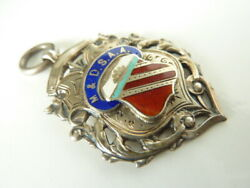 Sterling Silver Victorian Watch Fob Medal -naval Award Excellent Condition Rare