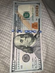 2009 A 100 Dollar Bill Star Note In Very Good Condition