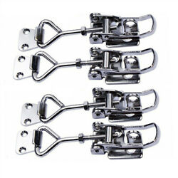 4x Marine Boat Stainless Steel Catch Latch Lock Clamp Hasp Multipurpose-m Size
