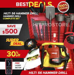 Hilti Te 56 Hammer Drill Preowned Free Laser Meter Bits Extras Fast Ship