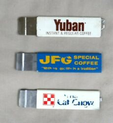 3 Vintage Advertising Box Cutters Yuban Coffee Purina Cat Chow Jfg Pacific