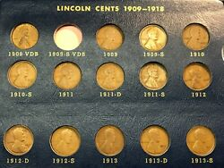 Near Complete Set 1909-1958 Lincoln Wheat Cents Includes 1909-s Memorial 59-1992