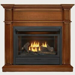 Duluth Forge Dual Fuel Ventless Gas Fireplace With Mantel 26k Btu Remote Control