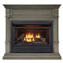 Duluth Forge Dual Fuel Ventless Gas Fireplace With Mantel 26k Btu T-stat Control