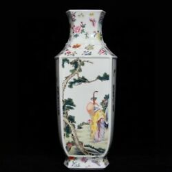13.6and039and039 China Antique Vase Five-colored Porcelain Vase Old Pottery Vase Xzs