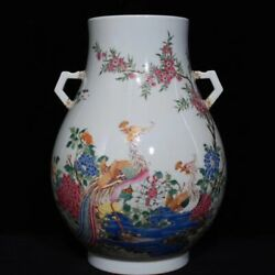 13and039and039 China Antique Vase Five-colored Porcelain Vase Old Pottery Vase Xzs