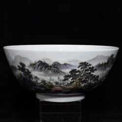 8.9and039and039 China Antique Bowl Five-colored Porcelain Bowl Old Pottery Bowl Xzs