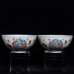 6and039and039 China Antique Bowl Five-colored Porcelain Bowl Old Pottery Bowl Xzs