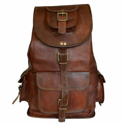 New Vintage Leather Travel Shoulder Women Satchel Backpack School Bag Handbag $60.80