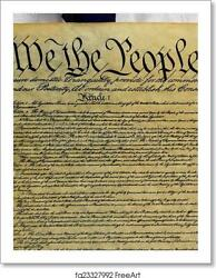 Constitution Of The Art Print Canvas Print. Poster Wall Art Home Decor
