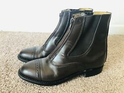 Grand Prix Paddock Leather Equestrian Riding Boots Made In Canada Sz 7.5 C $37.50