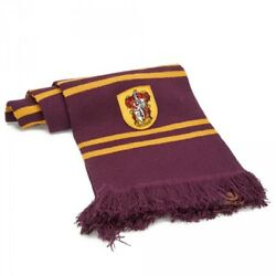 Harry Potter Scarf Gryffindor Scarf Purple Gold Harry Hermione Ron Badge 7157