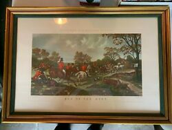 Herring's Fox-hunting Scenes - End Of The Hunt - Framed Vintage Lithograph Art