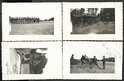 Judaica Rare Lot 4 Old Rppc Postcards Of Betar Members Practice In Europe 1930and039s