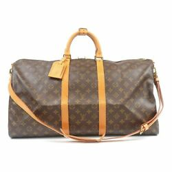 Authentic Louis Vuitton Monogram Keep All Bandouliere 55 Bag M41414 Used FS $688.75