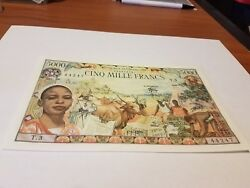 Central African Republic 5000 Franc. Great Embossings Unc