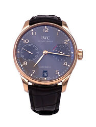 IWC Portugieser Automatic 42mm Rose Gold Case w Slate Dial – IW500702