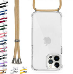Case With Cordon For Iphone In Silicone Transparent Case Necklace Shoulder