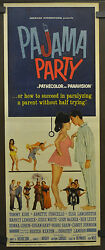 Pajama Party 1964 Original 14x36 Movie Poster Tommy Kirk Annette Funicello